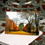 Louvre in Fall notecard by Julia Willard Falling Off Bicycles