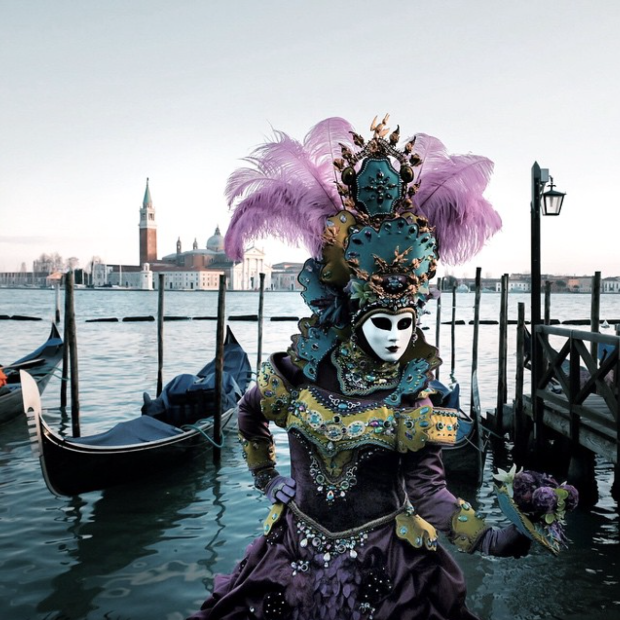 Beautiful image by Marco Gaggio on Instagram of Venice's version of Carnival