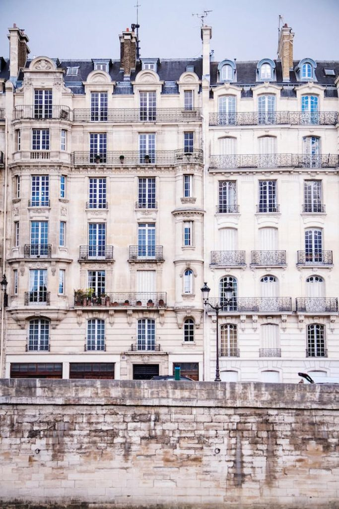 Parisian façades, fine art paris photography by Julia Willard, b&w photography by Falling Off Bicycles