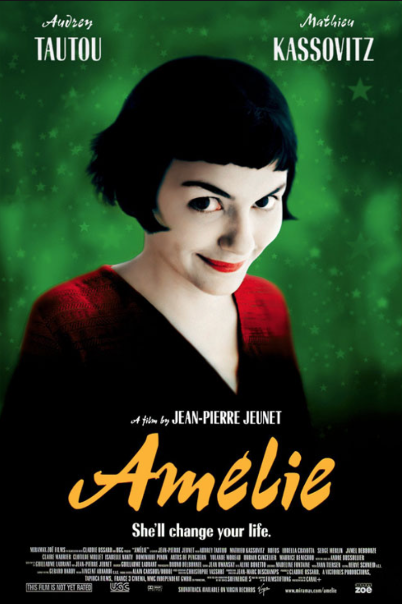 French films, France film, recommended movies, Amélie, Amelie Poulin
