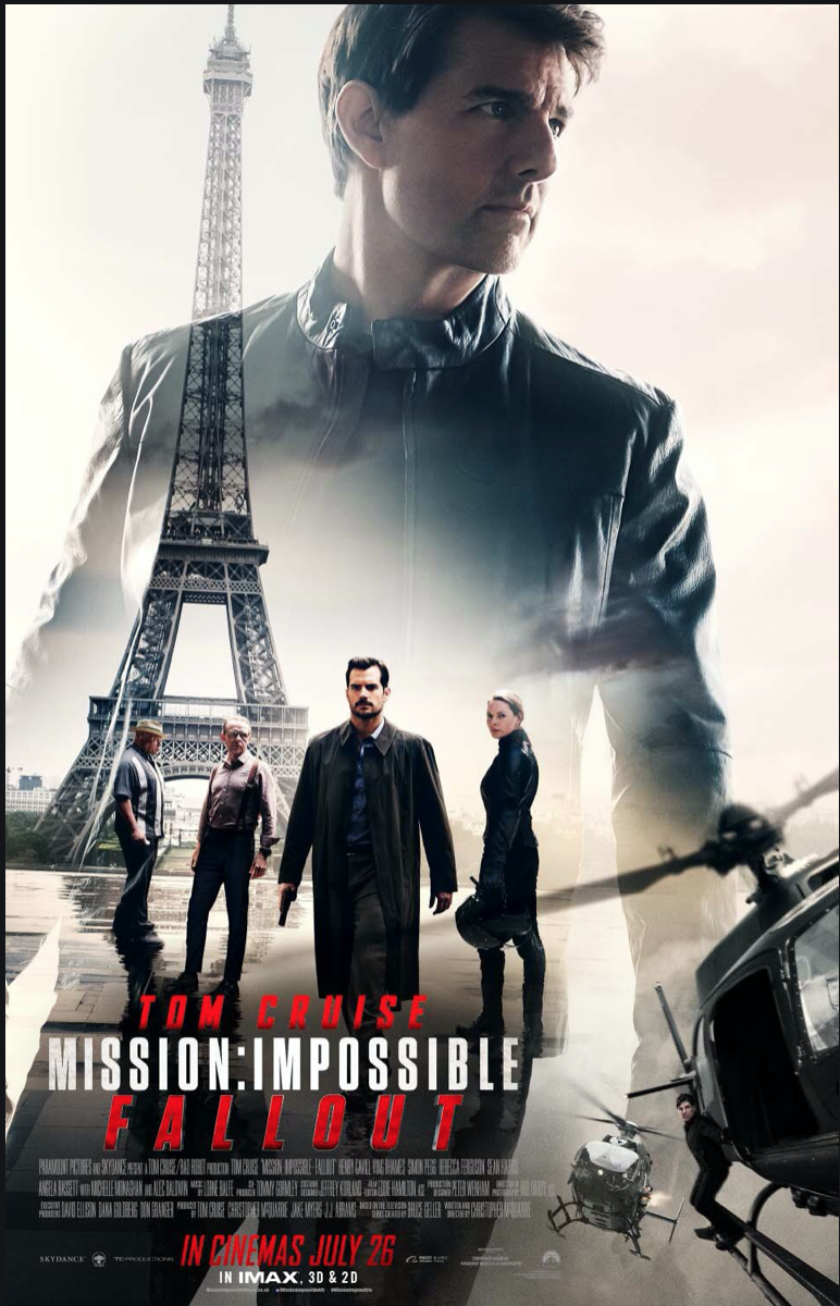 Movies on France, French blog, France blog, Paris blog, Tom Cruise Mission Impossible